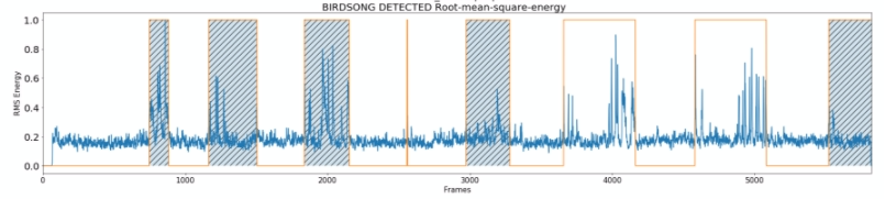 Rmse plot of birdsong recognition algorithm not working well